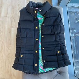 Women's black lilly pulitzer puffer vest